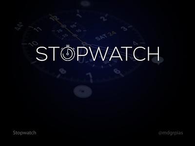 stopwatch logomark time watch ux web brand unique minimalist minimal stopwatch ui vector logo clean illustration icon graphic design design creative branding