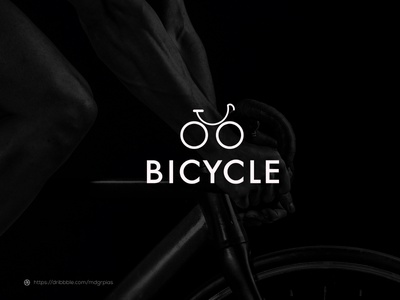 bicycle l logomark logodesign logoart simple web minimalist minimal unique cycle logo vector ui logo icon illustration graphic design design creative clean branding