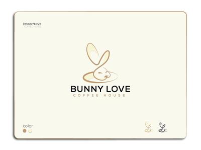 Bunny Love Coffee House logo graphicdesign minimalist unique creative foodlogo logoart logomark minimal logo restaurantlogo restaurant app