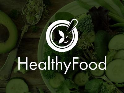 HealthyFood graphicdesign minimalist unique creative foodlogo logoart logomark minimal logo restaurantlogo restaurant app