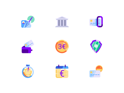 Icons for profee icon profee finance wallet cartoon illustration vector tolstovbrand