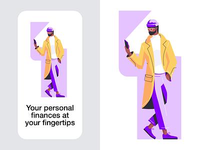 Illustration style concept wallet finance profee cartoon illustration vector tolstovbrand