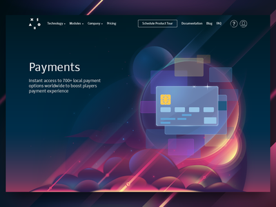 Illustration for corporate website (Payments) payments xsolla vector tolstovbrand cartoon illustration space web design