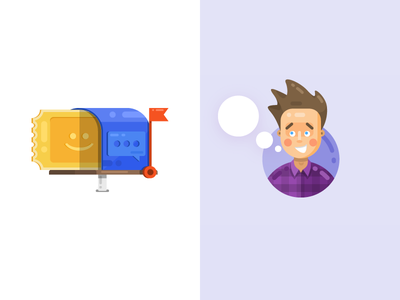 Lk icon email template 1 - xsolla xsolla cartoon icon tolstovbrand vector character email