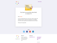 Subscription email template 2 - xsolla