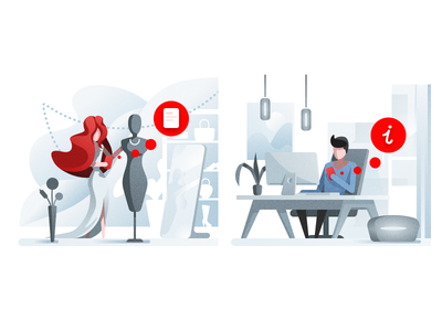 Illustrations designalfabank tolstovbrand illustration onboarding design alfabank alfa-bank