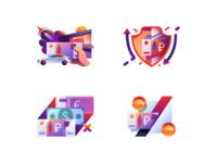 Illustrations - marketplace