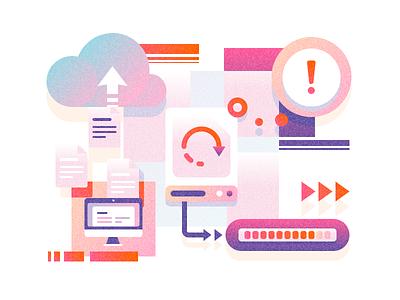 Illustrations - backup themissinglink icon illustration vector tolstovbrand