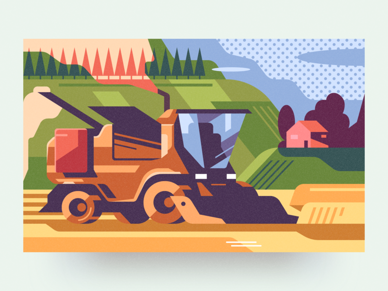 Agriculture analytical center flat agriculture cartoon illustration vector tolstovbrand