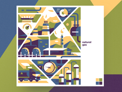 Natural gas natural gas flat analytical center cartoon illustration vector tolstovbrand