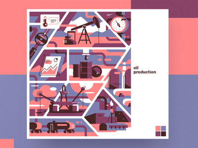 Oil production analytical center oil production flat cartoon illustration vector tolstovbrand