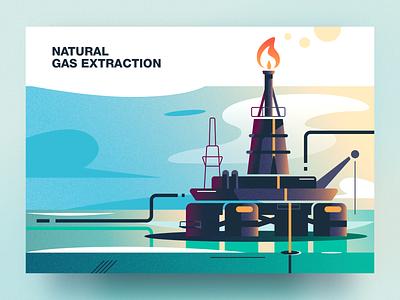 Natural gas extraction natural gas extraction natural gas analytical center cartoon illustration vector tolstovbrand