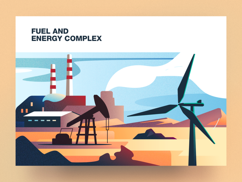 Fuel and energy complex analytical center energy complex fuel cartoon illustration vector tolstovbrand