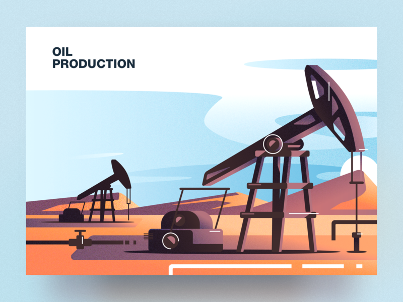 Oil production analytical center cartoon illustration vector tolstovbrand oil production