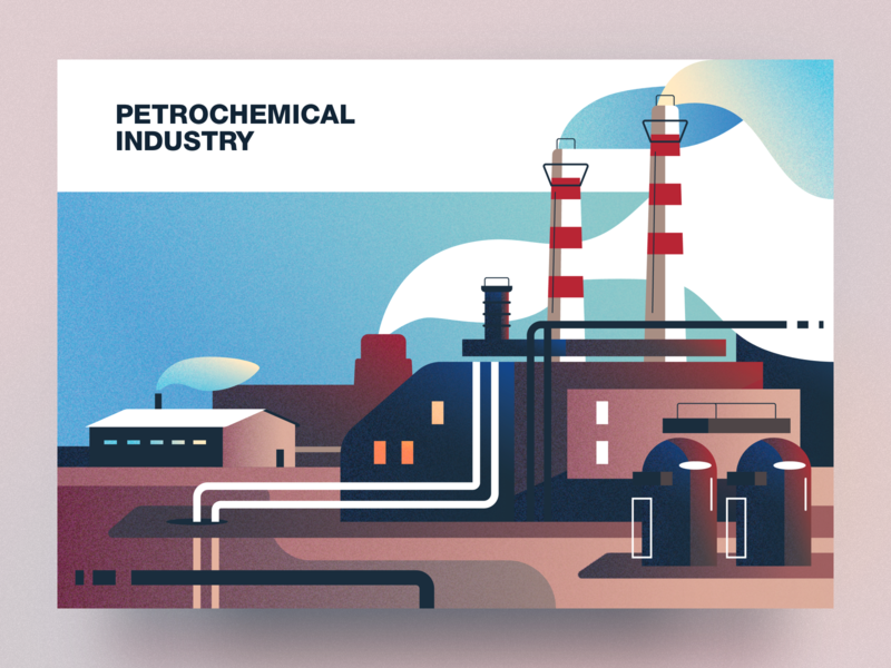 Petrochemical industry analytical center petrochemical industry cartoon illustration vector tolstovbrand