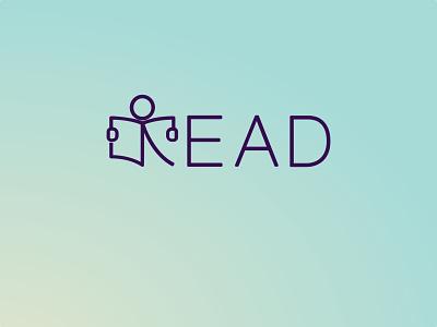 Calligraphy - Read illustration creative typography logo