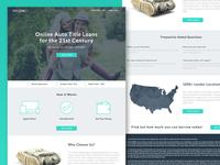Title Loan Landing Page Design