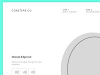 Wireframes - Coasters Ordering Screen