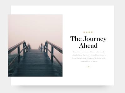 Minimal Journal Card web clean minimalism minimal design ux ui