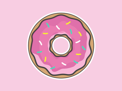 Sticker Mule Magnets icon illustration donuts donut magnets mule sticker stickermule