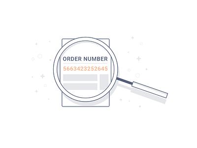 Order Lookup - Illustration module parse lookup order vector illustration bots