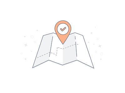 Address & Location - Illustration vector marker illustration address location map bots