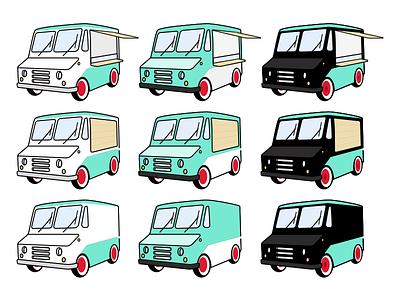 Food Truck Illustration food concept illustration rendering van truck car vehicle food truck