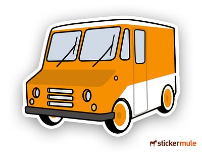 Food Truck Sticker - Sticker Mule Giveaway car sticker step van donut truck food stickermule