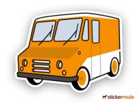 Food Truck Sticker - Sticker Mule Giveaway