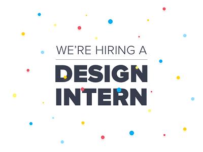 We're Hiring a Design Intern! mobile ux ui intern design chicago jobs job hiring