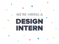 We're Hiring a Design Intern!