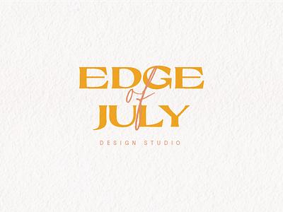 Edge of July Logo brand design vector clean design logo mark logo design branding logo