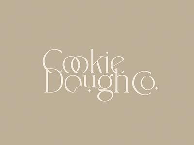Cookie Dough Co. Logo food logo cookie dough cookie brand design logo mark logo design logo design branding