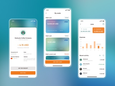Internet Banking | Expenses tracking on Smart Bank banking app experience design uiux money statistic expenses bill ticket bank account online banking wallet visual design product design banking