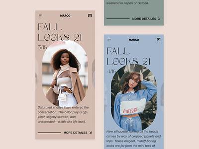 Fashion assistant e-commerce clothes brutalism fashion ui
