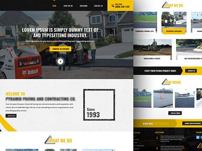 Home page design for Asphalt Contractor Seeks construction road contractor asphalt