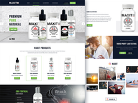 CBD Products homepage design