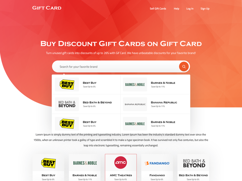 Gift Coupon ecommerce shop gift coupon gift cards mockup psd landing page design homepage design