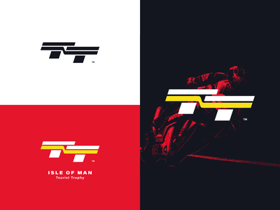 Isle of Man TT Racing Logo Redesign badge icon vector monogram design mark identity racing race t tt graphic design branding logo