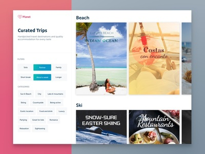 Planet Curated Trips - Web