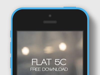 Flat iPhone 5C Mockup - All colors mockup iphone colors devices apple psddd