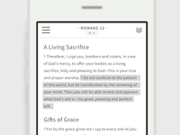 A Bible App - Scripture view/highlight