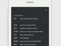A Bible App - Version Selector