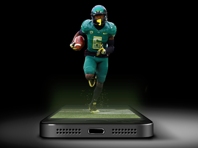 Sports news mobile app promo
