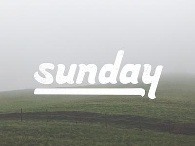 Sunday - Handlettering lettering handlettering type typography
