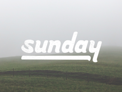 Sunday - Handlettering