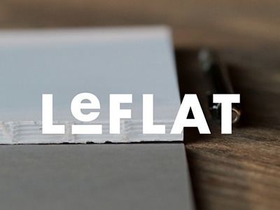 LeFLAT Logo + Product design kickstarter product design notebook logo