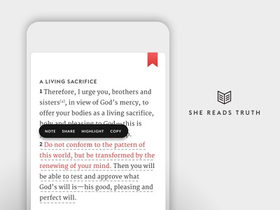 She Reads Truth v2 - Sprint 2: Bible Tools ui tools mobile bible app