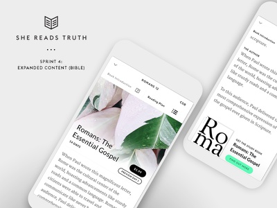 She Reads Truth v2 - Sprint 4: Expanded Content (Bible) ui tools mobile bible app