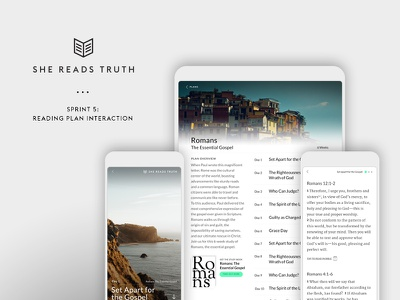 She Reads Truth v2 - Sprint 5: Reading plan interaction ui tools mobile bible app